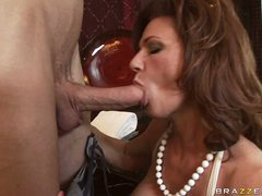 Deauxma is a sexy MILF who loves putting juicy cock in her mouth