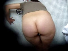 Fat ass girl hidden camera pleasure in bathroom
