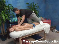 Nice blonce angel seduced in massage room
