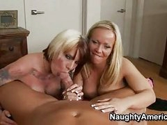 Sex Bombshell Austin Taylor Shares A Throbbing Jock With Her Tatalsoed Girlally