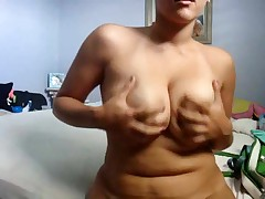 Cute corpulent girlfriend makes a porn tape for her boyfriend by dancing her curvy body around for the cam and playing with herself. That babe bows over to give a intimate look at her snatch and asshole.