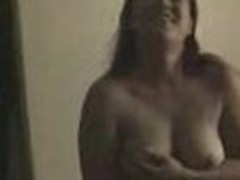 Insatiable and wild, this chubby chick loses any control when sees home camera in her lover's arms. That babe exposes big boobs and eats pecker.