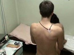 This nurse with full sticking tits could be fired if her boss discovered out that babe was fucking with her patient in the physiotherapeutic room! Enjoy the spy episode with horny gal riding the dude and taking his shlong from behind!