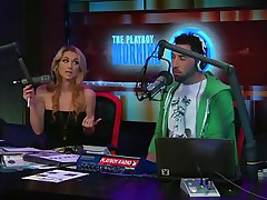 Watch the hot blonde host of the play playboy radio program 'Morning Show' discussing about some important facts of appearance and looks those you'll need to keep u fit and sexy! And to show the practical result she takes off her tops to show u how beautiful her body is by obeying those rules herself!