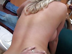 Cute young angel with long blonde hair receives it from behind from a lewd dentist. She really enjoys his really hard dick as u can watch it from her face. She spread her legs as that babe receives willing for some pussylicking. Will he fuck her for wonderful or will that babe be satisfied with just some cunnilingus?