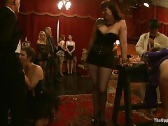 They are going to indulge into all kinds of stuff, things that nearly all males and most chicks want. Almost any are afraid to express these feelings, but here all of these suppressed craves are fulfilled on the upper floor. Numerous acts of kinky sex, punishment, and depravity are enjoyed by participants.
