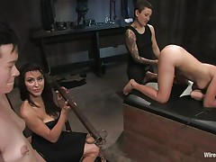 Eager for punishment, these two gals volunteer for a testing raunchy experience on the female body. Vai and Jiz Lee are two hot skinny gals who have a fun being punished during the time that they are tied up in bondage. See 'em moan with one as well as the other pleasure and pain as Princess Donna Dolore punishes 'em with excitement.