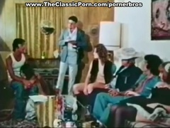 Classic porn with sexy group scene interracial