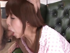 Favourable man acquires rapturous blow job from sexy Oriental playgirl