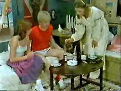 Brother&,#039,s ally and girlfriend playing to the doctor when mommy  comes-Retro