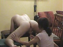 prostate massage from cute redhead