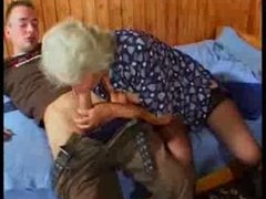 Breasty German Granny bonks young Guy