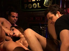 It may be closing time, but Amber Rayne is about to acquire her pink...